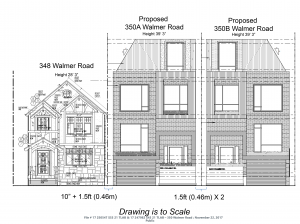 350 Walmer Road proposed streetscape